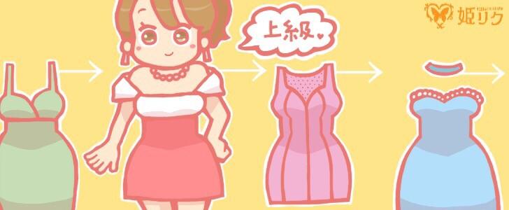ドレス選び上級編のイラスト